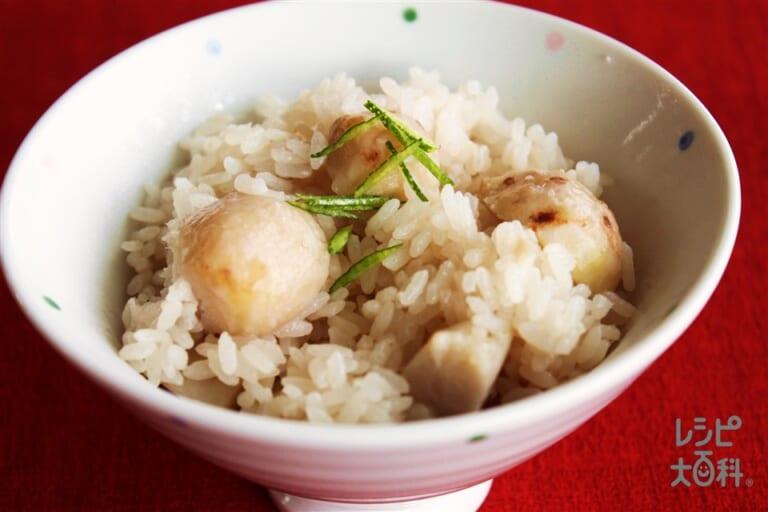 里芋の炊き込みご飯