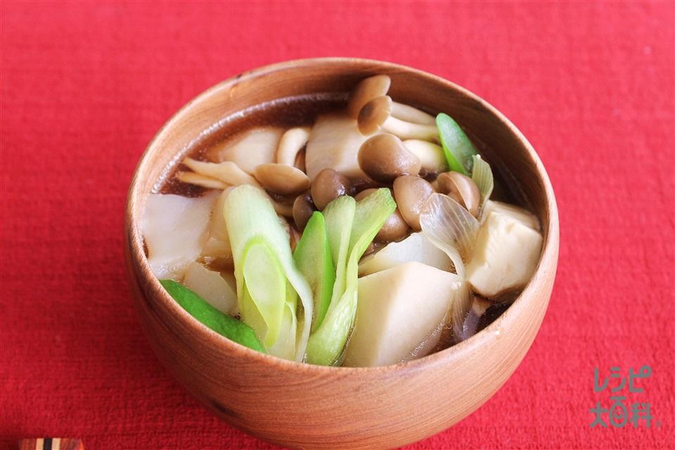 芋のこ汁(里いも+こんにゃくを使ったレシピ)