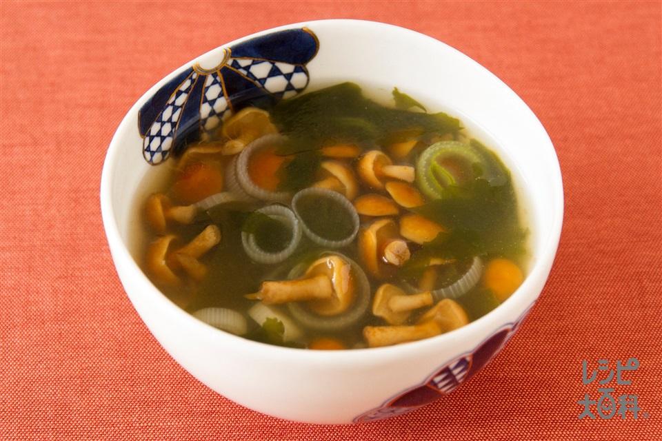 なめこのスープ(なめこ+長ねぎを使ったレシピ)