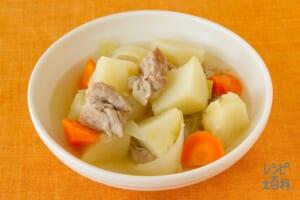 簡単豚じゃが中華風(豚もも薄切り肉+じゃがいもを使ったレシピ)