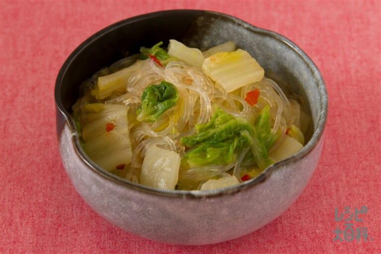 白菜と春雨のピリ辛煮