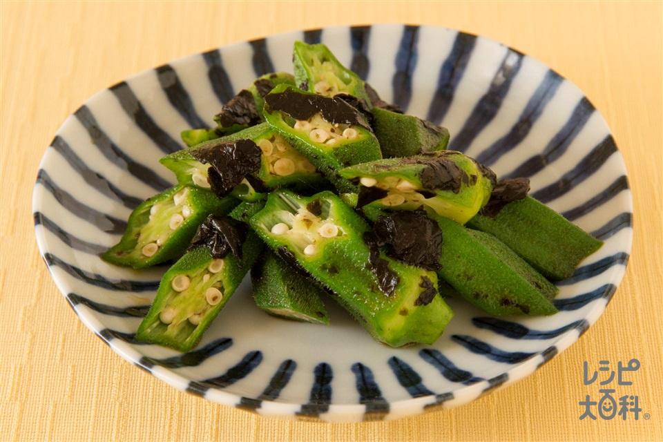 おくらののり和え(オクラ+焼きのりを使ったレシピ)