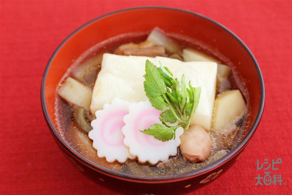 山形風雑煮(切り餅+大根を使ったレシピ)