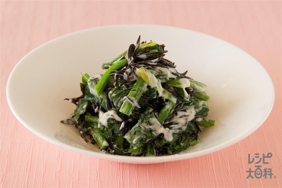 ほうれん草とひじきのサラダ(ほうれん草+干しひじきを使ったレシピ)