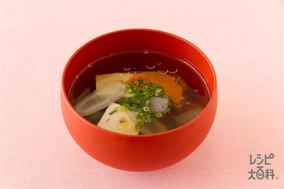 減塩けんちん汁(木綿豆腐+こんにゃくを使ったレシピ)