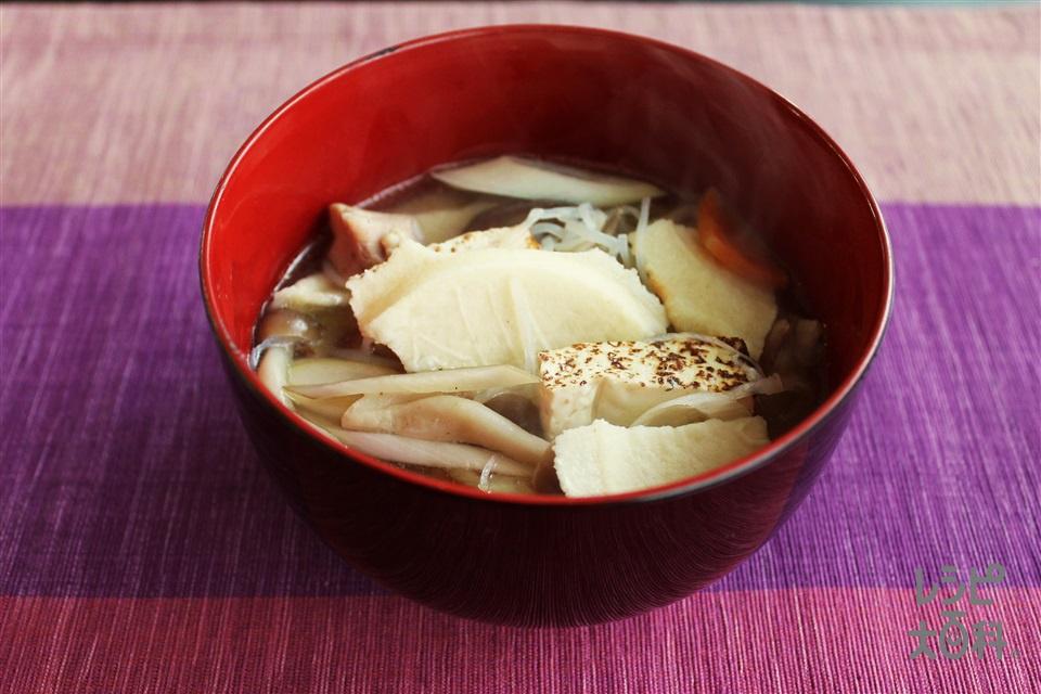 せんべい汁 鶏だし・うま塩(鶏もも肉+しらたきを使ったレシピ)