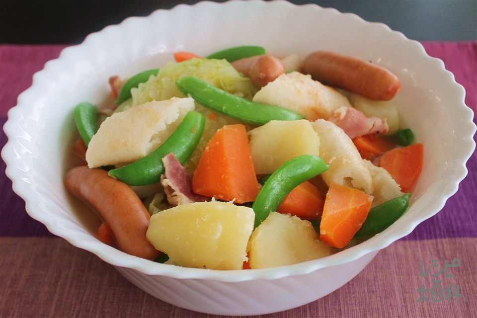 きりたんぽ入りポトフ(きりたんぽとふ)(じゃがいも+キャベツを使ったレシピ)