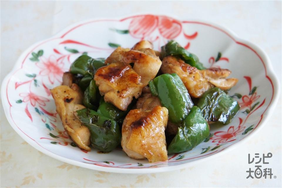 鶏とピーマンのてりやき風(鶏もも肉+ピーマンを使ったレシピ)