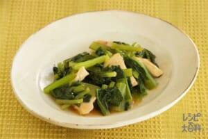 小松菜と鶏むね肉の甘辛炒め
