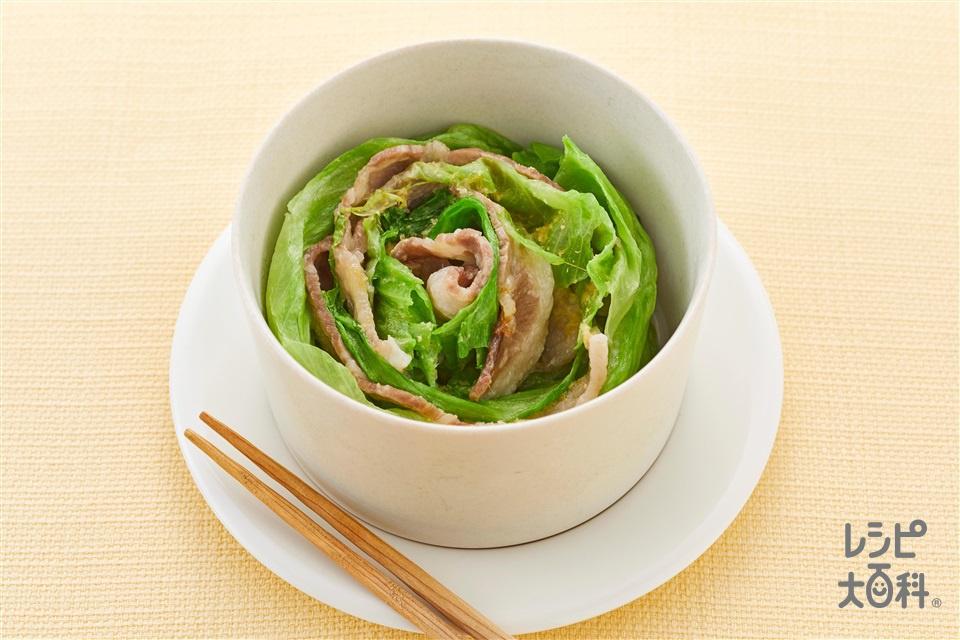 レタスの蒸し煮風(レタス+豚バラ薄切り肉を使ったレシピ)