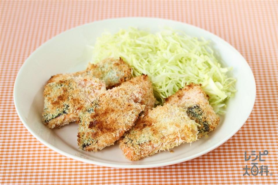 鮭のパン粉焼き カレー風味(生ざけ+「瀬戸のほんじお」を使ったレシピ)