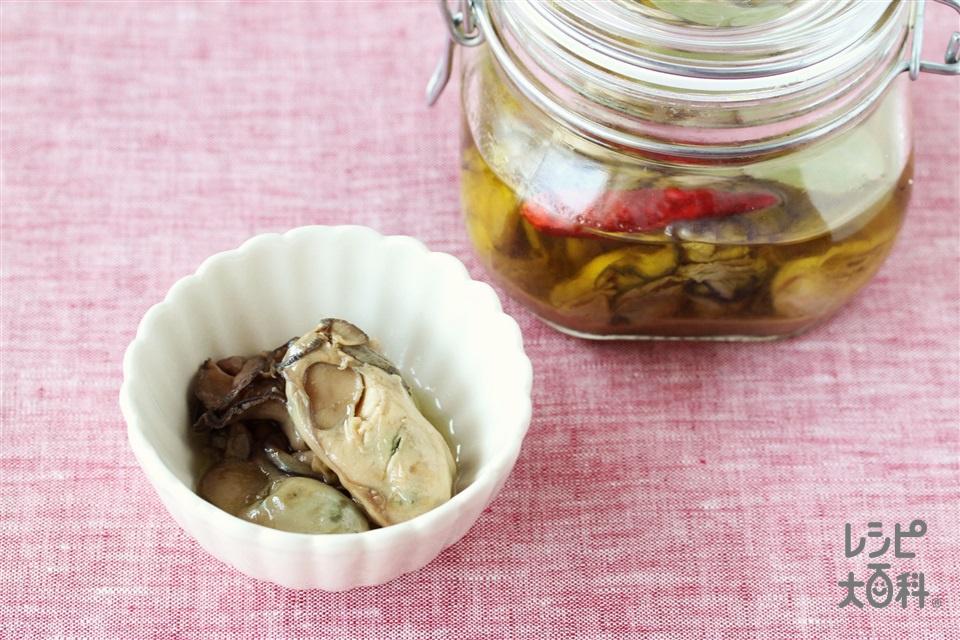 牡蠣のオイル漬け(かき(むき身)+「Cook Do」オイスターソースを使ったレシピ)