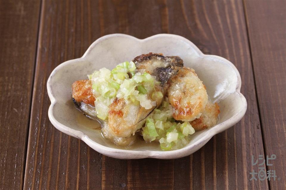 牡蠣のソテーねぎ塩だれ(かき(むき身)+長ねぎを使ったレシピ)
