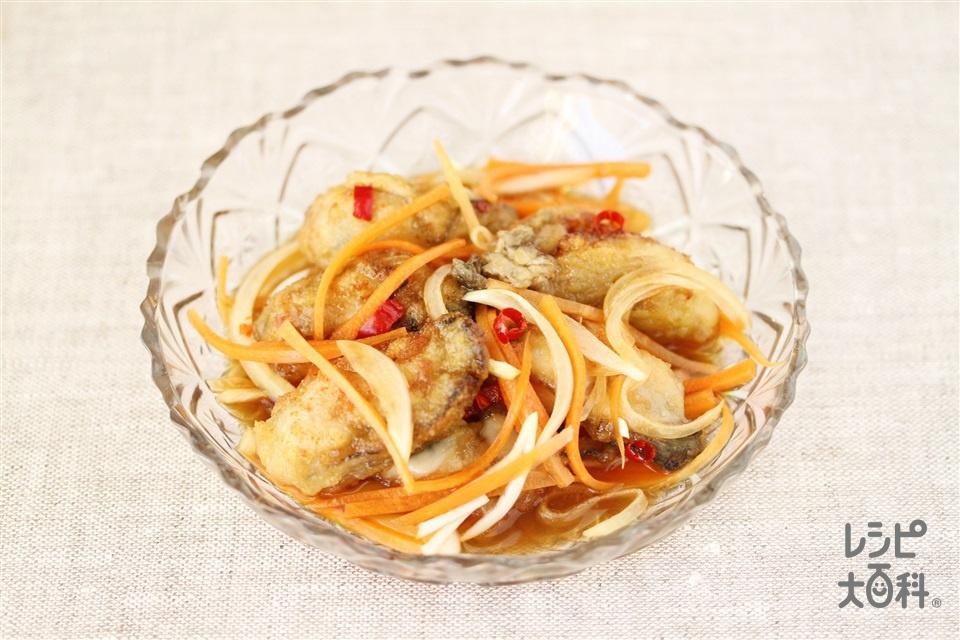 牡蠣の南蛮漬け(かき(むき身)+玉ねぎを使ったレシピ)