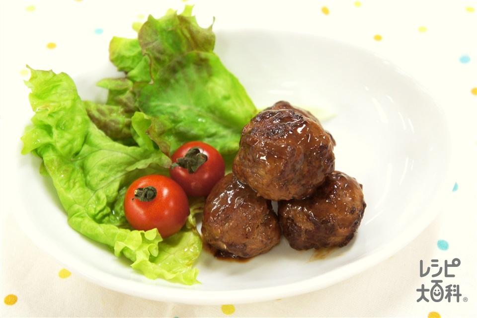 照り焼きミートボール(合いびき肉+A玉ねぎのみじん切りを使ったレシピ)