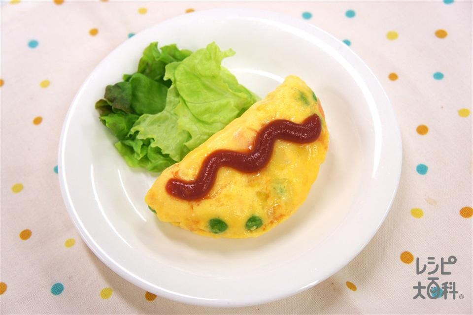 簡単オムレツ(卵+ミックスチーズを使ったレシピ)