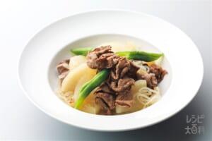 牛肉と大根のあっさり煮