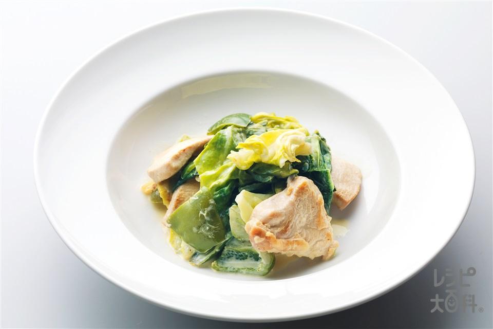 鶏ときゃべつのマヨ炒め(鶏むね肉+キャベツを使ったレシピ)
