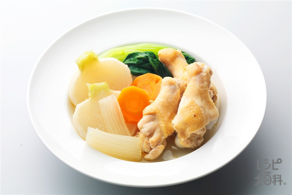 手羽元の中華ポトフ(鶏手羽元+かぶを使ったレシピ)
