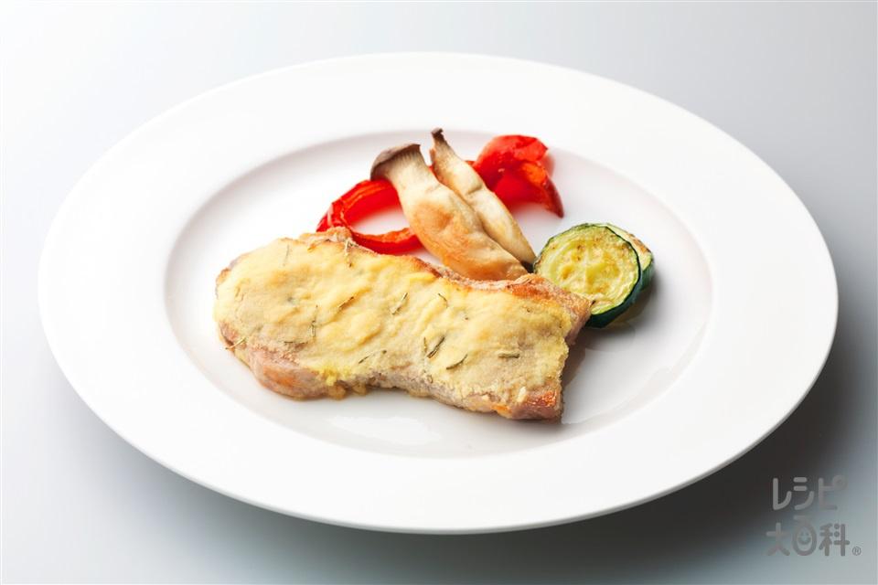 豚ロースの香草パン粉風焼き(豚ロース肉ソテー用+A酒を使ったレシピ)