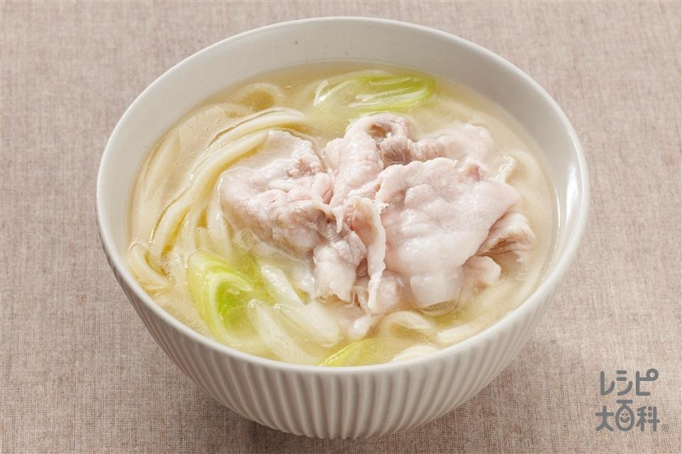 中華肉うどん(ゆでうどん+豚バラ薄切り肉を使ったレシピ)