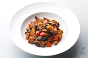 ひき肉と茄子のカレー炒め