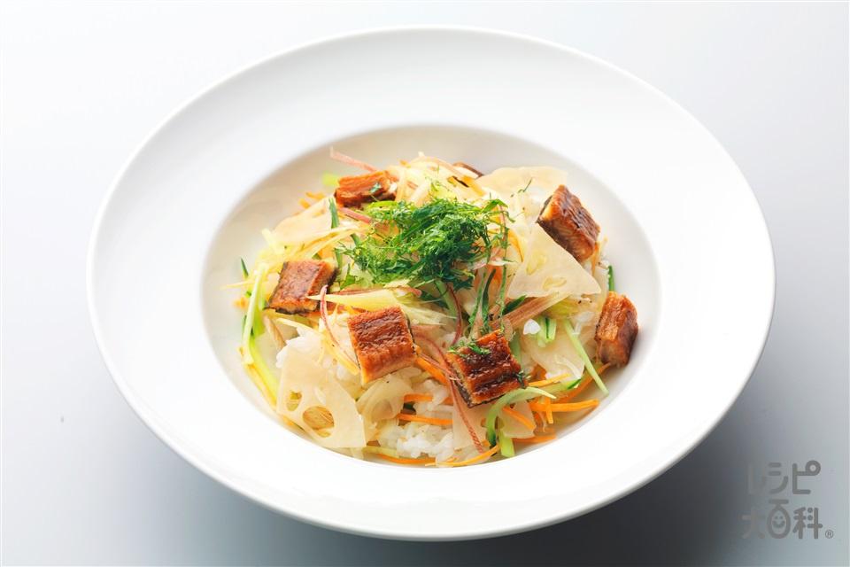 うなぎのさっぱりちらし寿司(温かいご飯+うなぎのかば焼きを使ったレシピ)