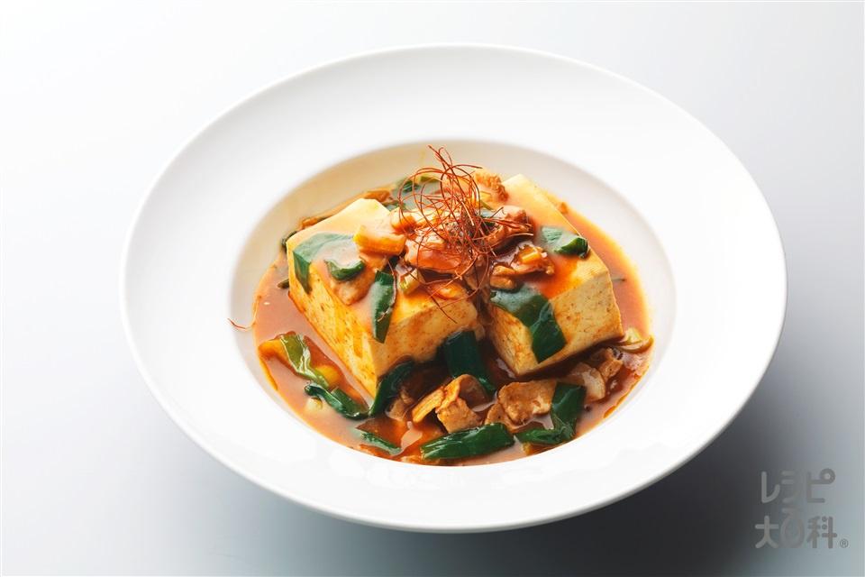 スタミナ豆腐(木綿豆腐+豚もも薄切り肉を使ったレシピ)