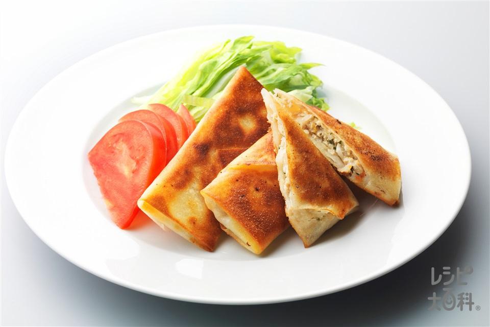 さっぱり梅しそ春巻き(鶏ひき肉+玉ねぎを使ったレシピ)