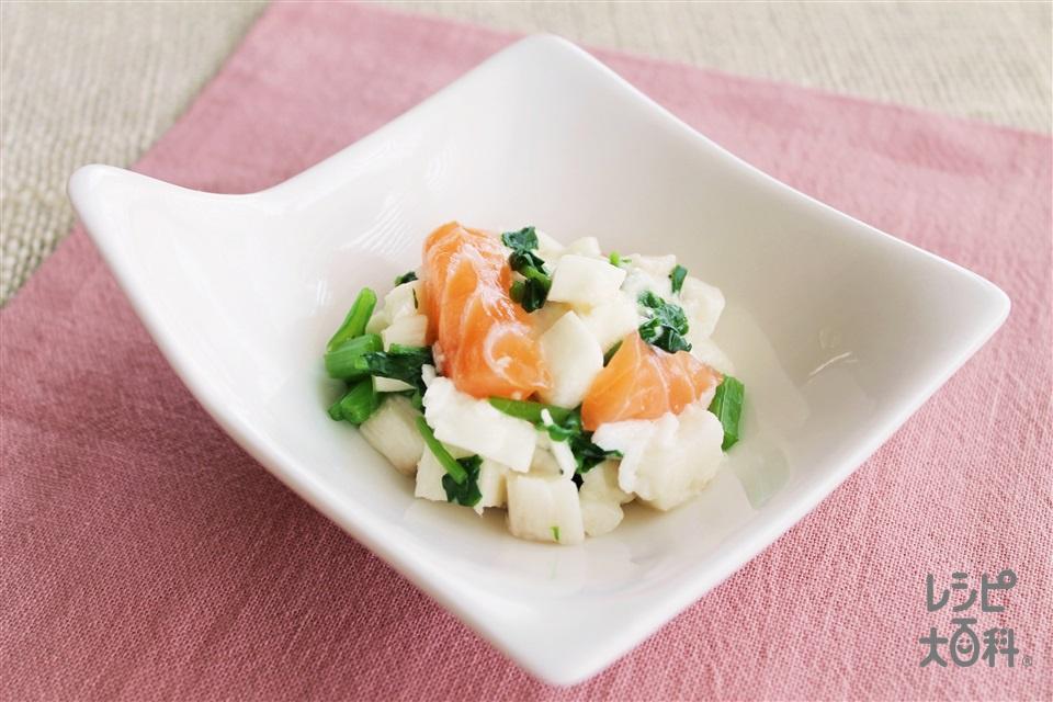 銀鮭と長芋の小鉢(銀ざけ+山いもを使ったレシピ)
