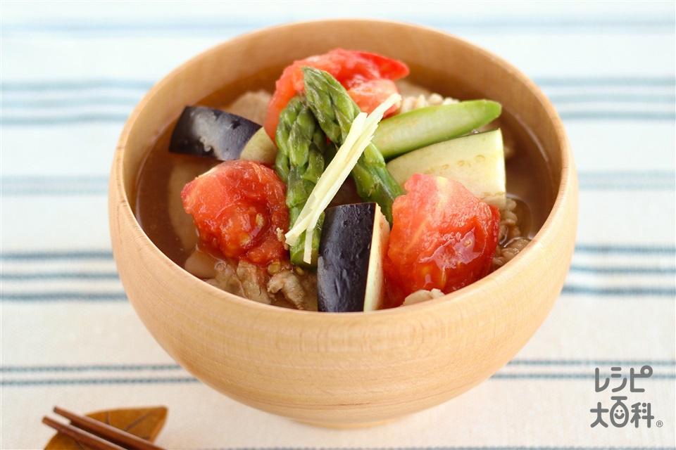 具だくさん夏野菜のうま塩とん汁