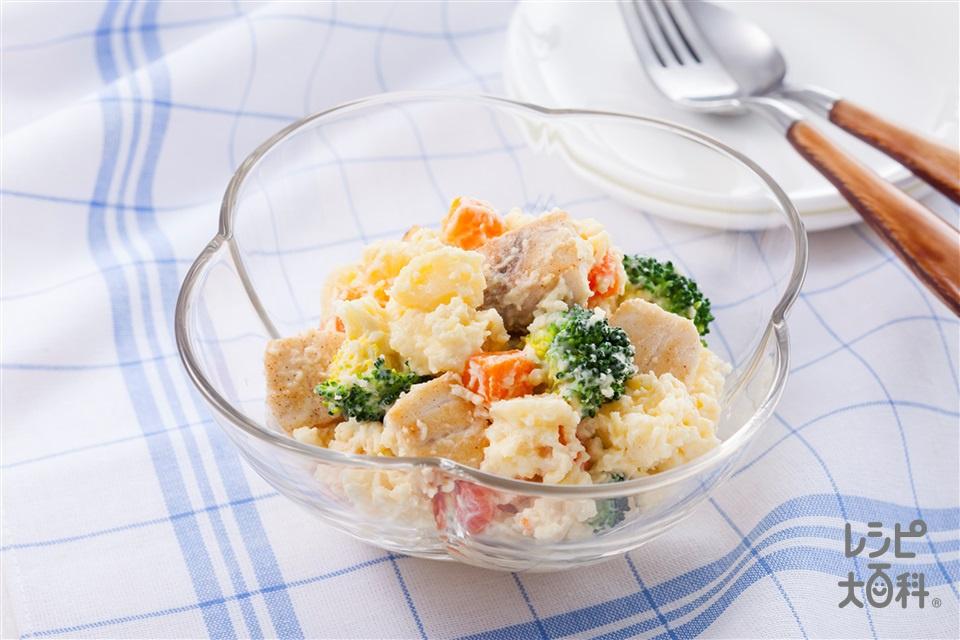 かじき入りポテトサラダ(じゃがいも+かじきを使ったレシピ)