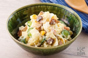 いぶりがっこのポテトサラダ(じゃがいも+きゅうりを使ったレシピ)