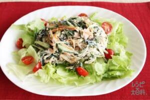ひじきのヘルシーのサラダ(きゅうり+レタスを使ったレシピ)