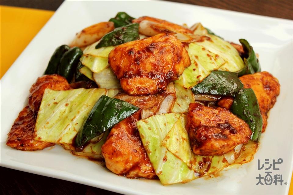 鶏むね回鍋肉(鶏むね肉+キャベツを使ったレシピ)