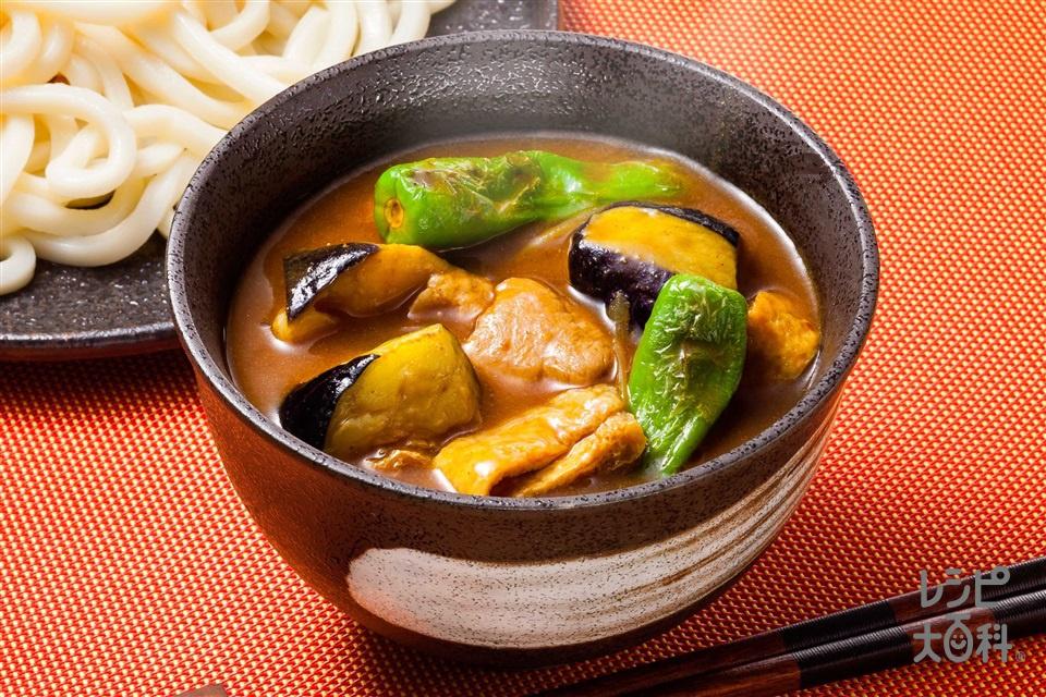 和風カレーつけ麺(うどんを使ったレシピ)