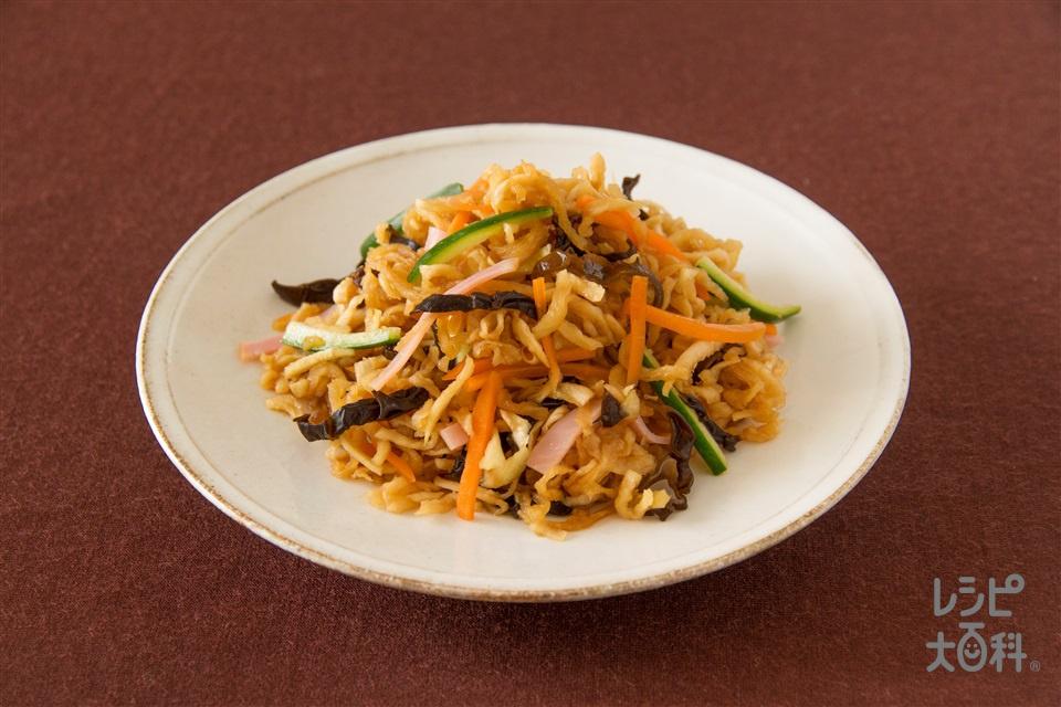 せんぎり大根の五目サラダ(切り干し大根+きゅうりを使ったレシピ)