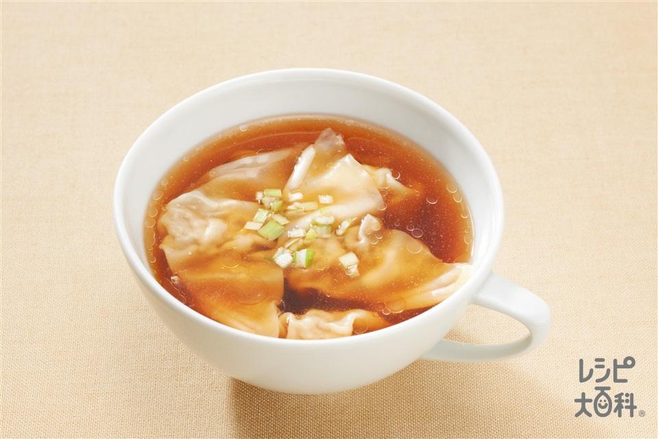ワンタンスープ(ワンタン+熱湯を使ったレシピ)