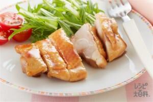 鶏の照り焼き(鶏もも肉+ミニトマトを使ったレシピ)