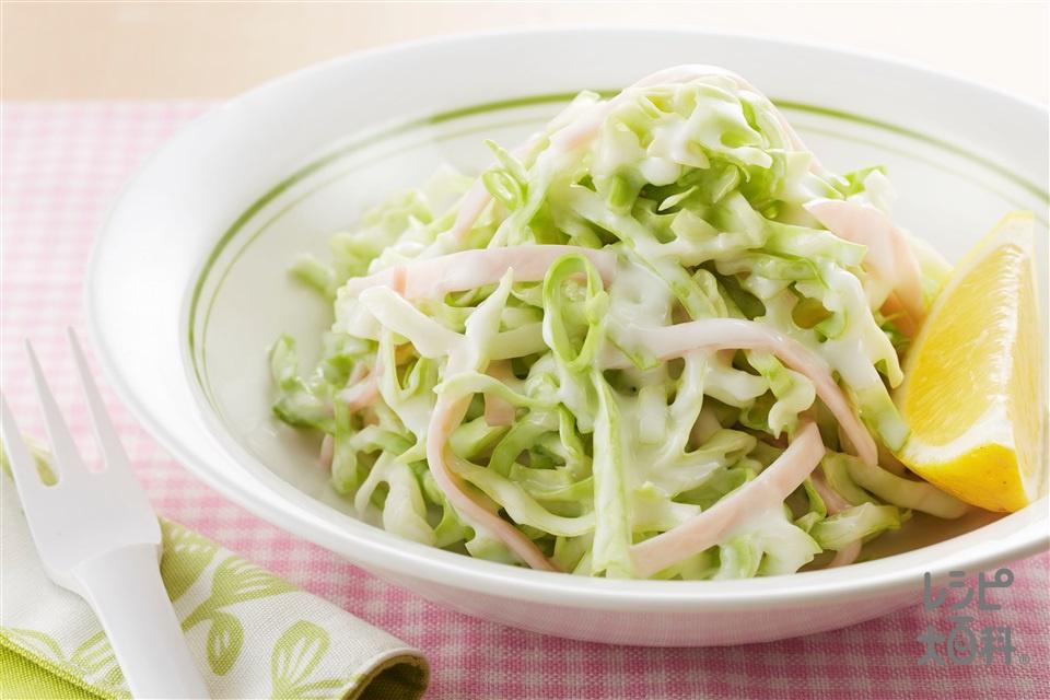 キャベツとハムのヨーグルトサラダ(キャベツ+プレーンヨーグルトを使ったレシピ)