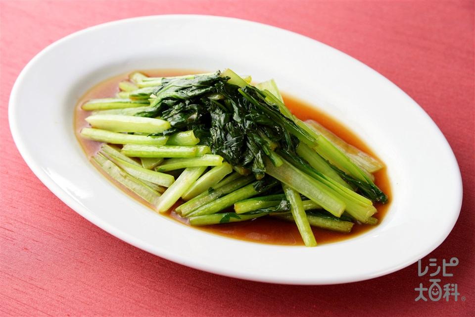 青菜炒め(小松菜+を使ったレシピ)