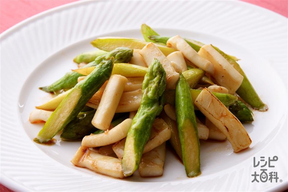 いかとアスパラの中華炒め(するめいか+グリーンアスパラガスを使ったレシピ)