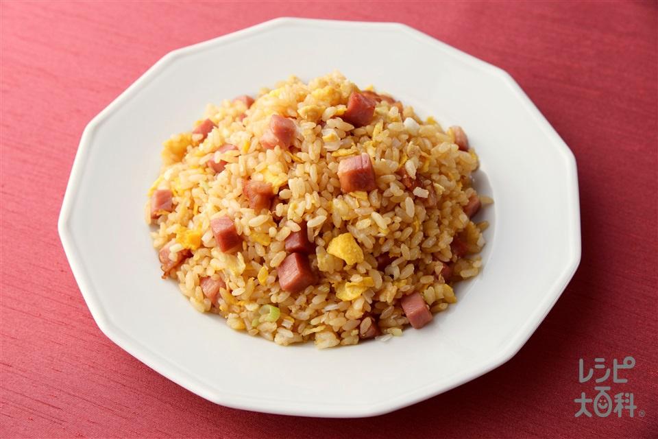 中華醤油焼き飯(ご飯+チャーシューを使ったレシピ)