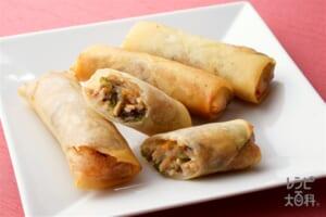 春巻き(春巻の皮+豚もも薄切り肉を使ったレシピ)