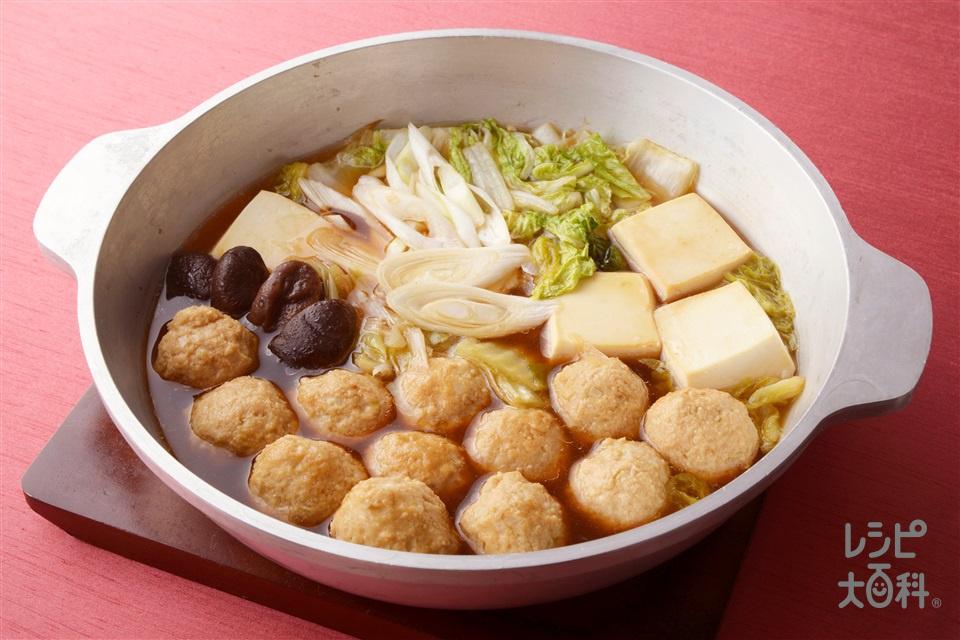 中華風肉団子鍋(鶏ひき肉+白菜を使ったレシピ)