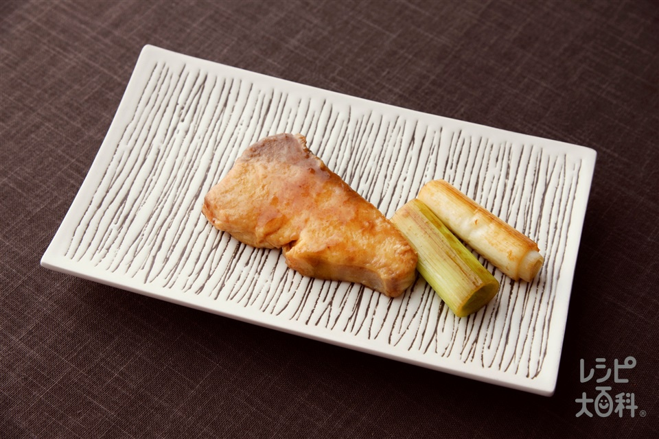 ブリの香味照り焼き(ぶり(切り身)+長ねぎを使ったレシピ)