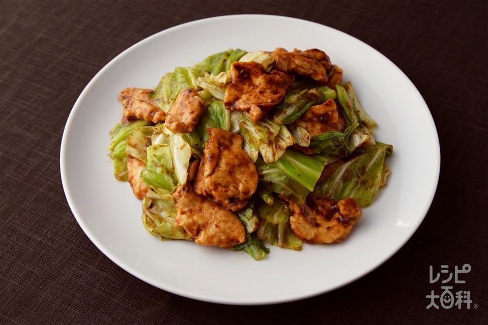 鶏むね回鍋肉(お肉たっぷり!)(鶏むね肉+酒を使ったレシピ)