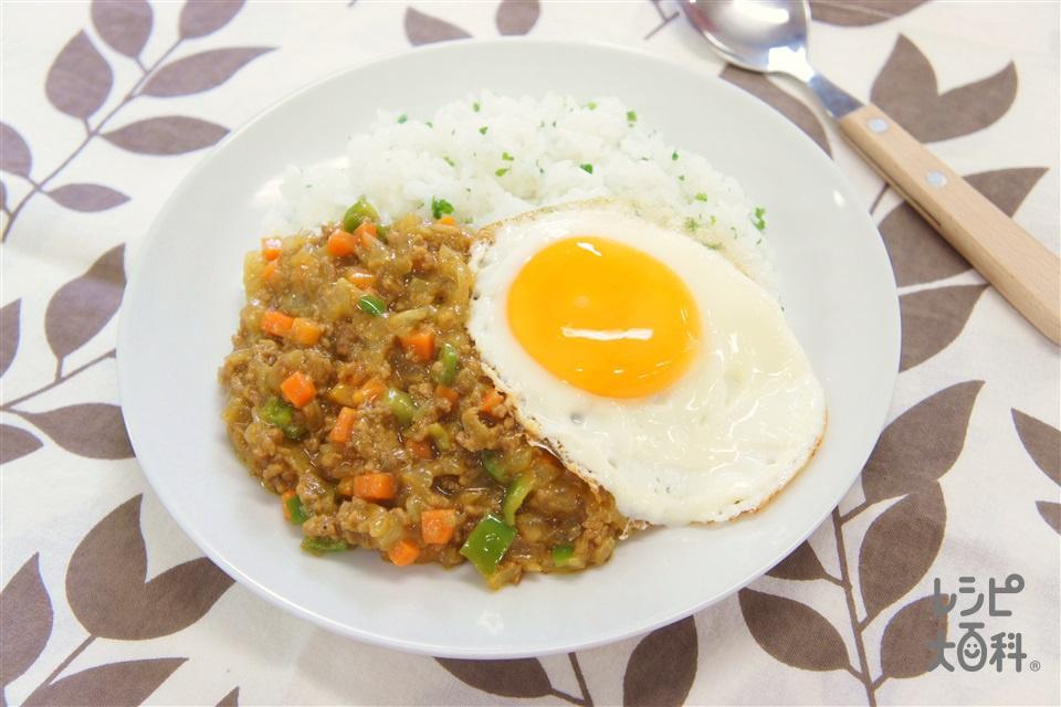 ドライカレー(合いびき肉+ご飯を使ったレシピ)