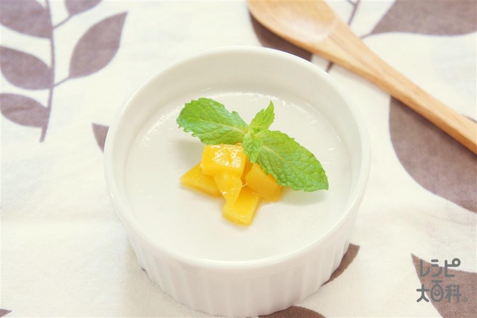 ココナッツプリン(ココナッツミルク+牛乳を使ったレシピ)