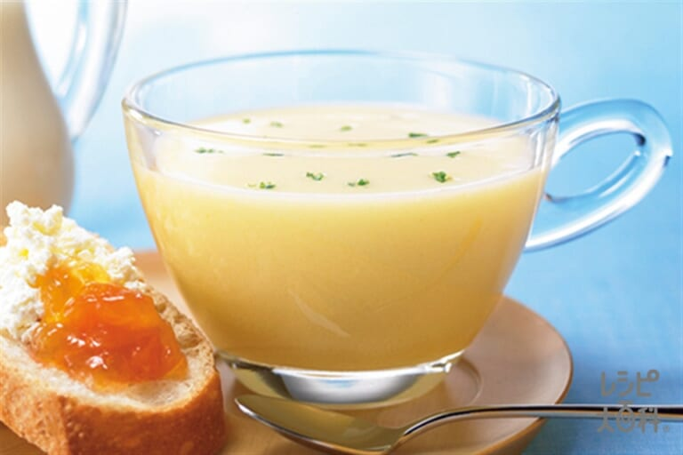 「クノール カップスープ」冷たい牛乳でつくる コーンポタージュ